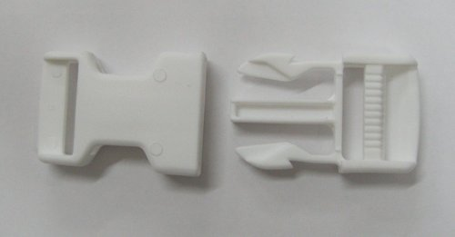 Trident buckle 25mm PVC white